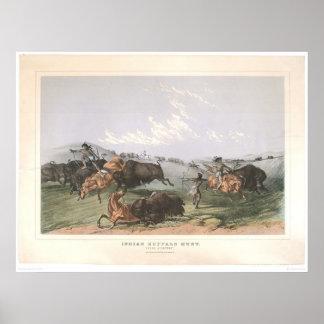 "Indian Buffalo Hunt: ""Close Quarters"" (0743A) Poster"