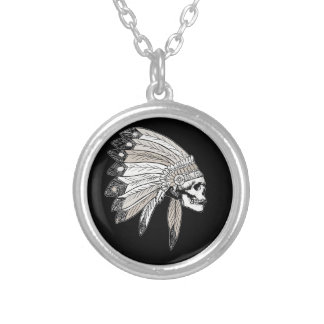Indian Chef Silver Plated Necklace