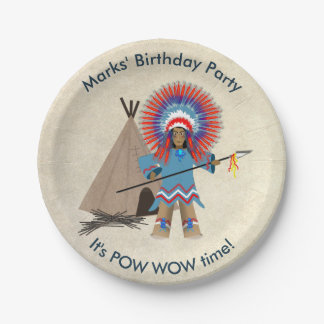 Indian Chief Birthday Party Paper Plates 7 Inch Paper Plate