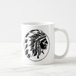 Indian Chief Head Basic White Mug