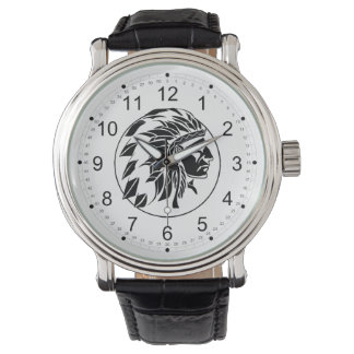 Indian Chief Head Watch