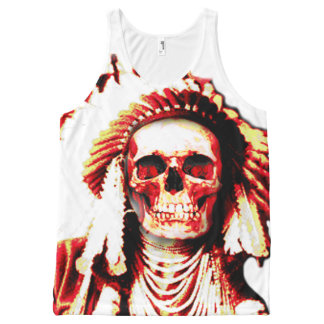 indian chief skull All-Over print singlet