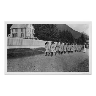 Indian Children Sitka, Alaska 1922 Poster
