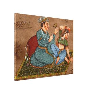 Indian couple canvas print