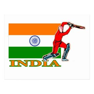 Indian Cricket Player Postcard