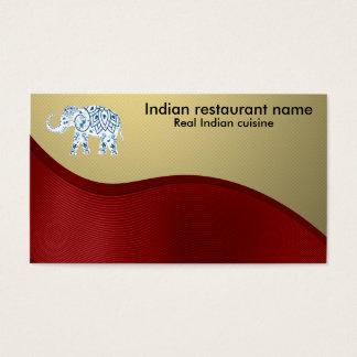 Indian cuisine business card