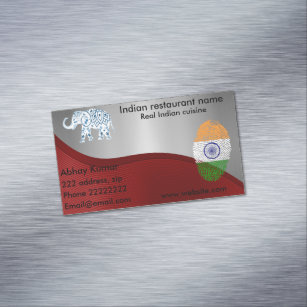 Indian restaurant business cards zazzle au indian cuisine magnetic business card reheart Images