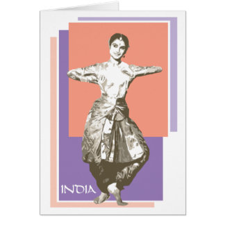 Indian Dancer Card
