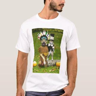 INDIAN DOG & PILGRIM CAT T-Shirt