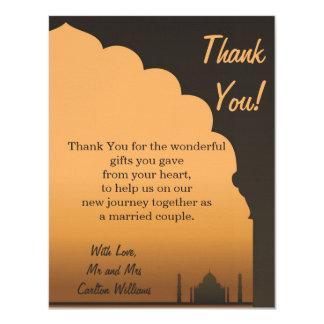 Indian Dream Wedding Flat Thank You Card 11 Cm X 14 Cm Invitation Card