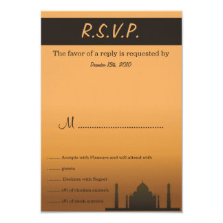Indian Dream Wedding RSVP Card 9 Cm X 13 Cm Invitation Card