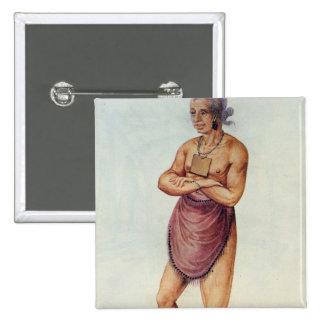 Indian Elder or Chief 15 Cm Square Badge