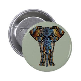 Indian elephant 6 cm round badge