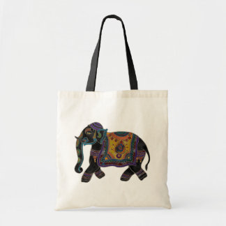 Indian Elephant Art Shirt Tote Bag