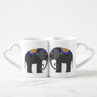 Indian Elephant Coffee Mug Set