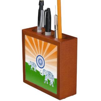 Indian elephant desk organiser