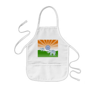 Indian elephant kids apron