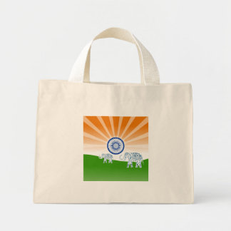 Indian elephant mini tote bag