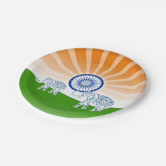 Indian elephant paper plate