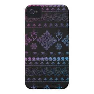 indian elephant pattern Case-Mate iPhone 4 cases