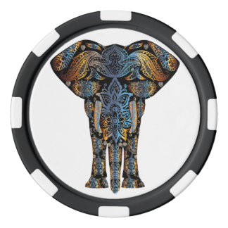 Indian elephant poker chips