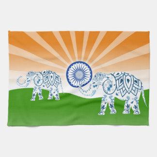 Indian elephant tea towel
