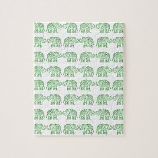 Indian elephants jigsaw puzzle