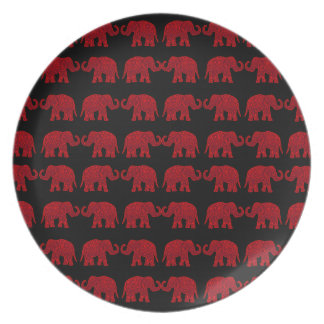 Indian elephants plate