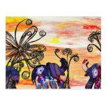 Indian Elephants Postcard