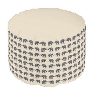 Indian elephants pouf
