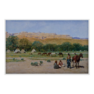 Indian Encampment 1901 by Henry Farny Poster