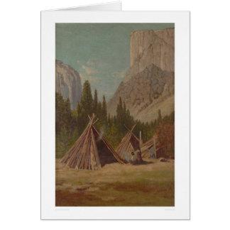 Indian Encampment in Yosemite Valley (1189) Card