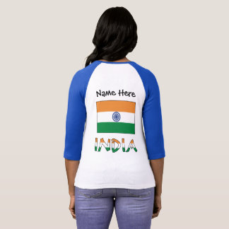 Indian Flag and India with Name T-Shirt