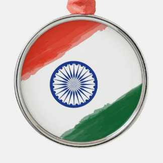 Indian Flag Flag India National Country Nation Metal Ornament