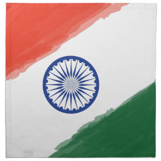 Indian Flag Flag India National Country Nation Napkin