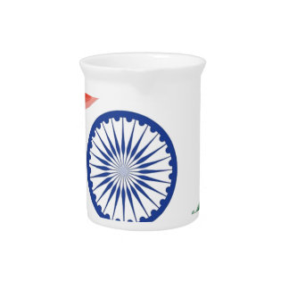 Indian Flag Flag India National Country Nation Pitcher