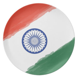 Indian Flag Flag India National Country Nation Plate