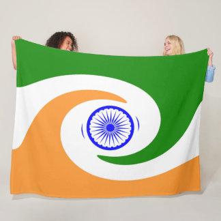 Indian flag fleece blanket