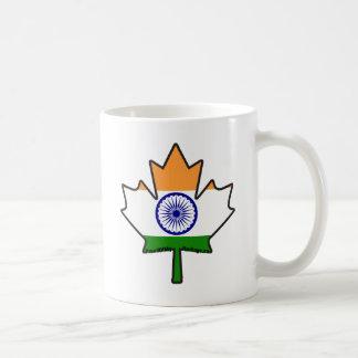 Indian Flag in Canadian Maple Leaf Items Coffee Mug