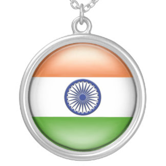Indian Flag Silver Plated Necklace
