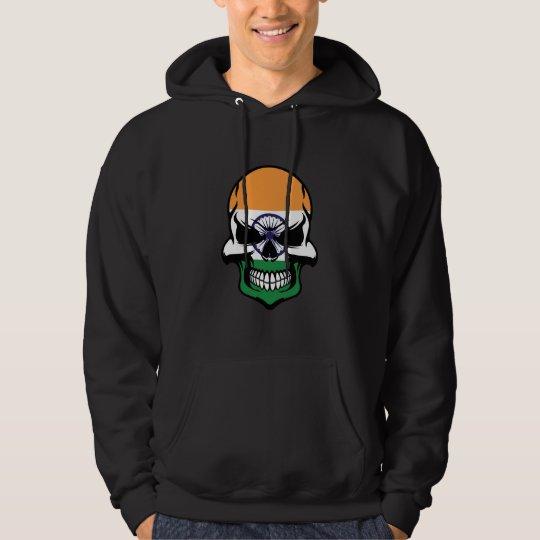 Indian Flag Skull Hoodie
