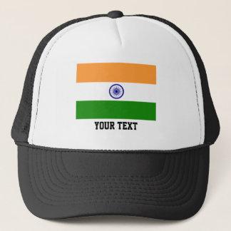 Indian flag trucker hat