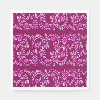 Indian fleur de lis henna pattern disposable serviette