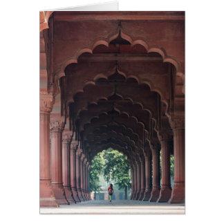 Indian Girl at Diwan-i-Aam, Red Fort, Delhi Card