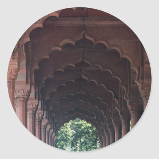 Indian Girl at Diwan-i-Aam, Red Fort, Delhi Classic Round Sticker