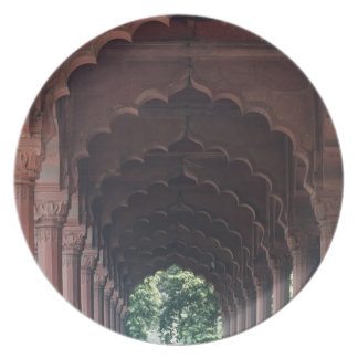 Indian Girl at Diwan-i-Aam, Red Fort, Delhi Plate