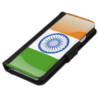 Indian glossy flag iPhone 6 wallet case
