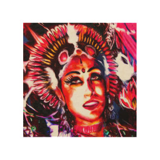 Indian goddess | Devi Wood Print