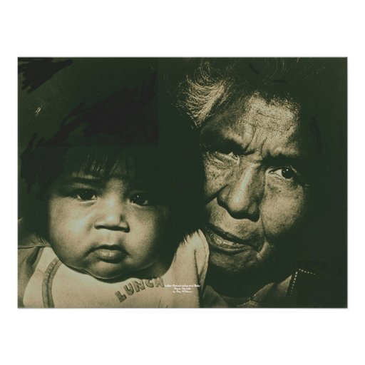 Indian Grandmother and Baby Print