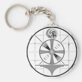 Indian Head Television Test Pattern Key Ring